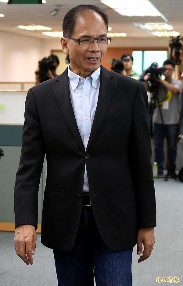 游錫堃早在去年6月許志堅申請退休獲准後,就曾經質疑事有蹊蹺。(記者朱沛雄攝)