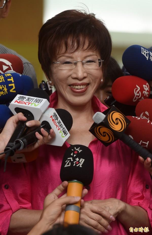 針對蔡英文表態「釣魚台屬於台灣的」,洪秀柱回應:那為何不將這些話對著李登輝說呢?說你怎麼可以出賣台灣的領土、國家主權受傷害了!(資料照,記者簡榮豐攝)