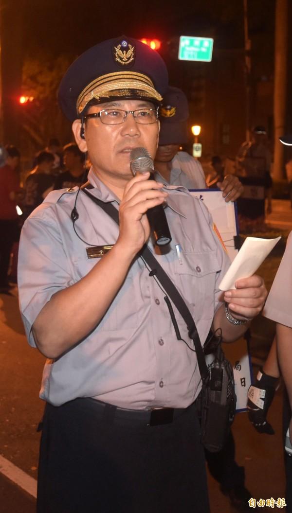 張奇文透露他曾幫學生爭取集會路權,逮捕學生時,他還叫警員不要上銬。(資料照,記者王敏為攝)