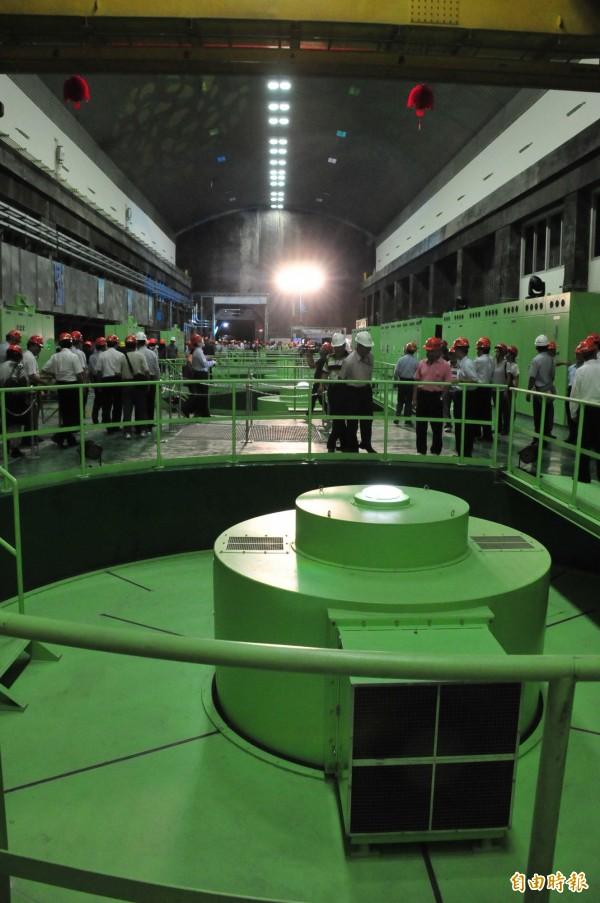 大甲溪電廠青山分廠一號機組正式運轉發電。(記者李忠憲攝)