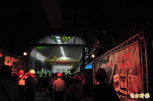 大甲溪電廠青山分廠是地下電廠,已重生啟用。(記者李忠憲攝)
