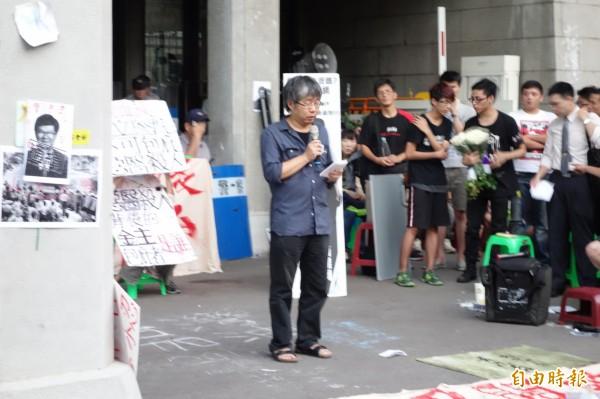 台大物理系教授、台灣守護民主平台會長林敏聰。(記者吳柏軒攝)