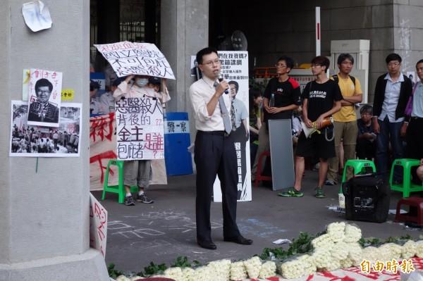 台灣人權促進會律師涂予尹。(記者吳柏軒攝)