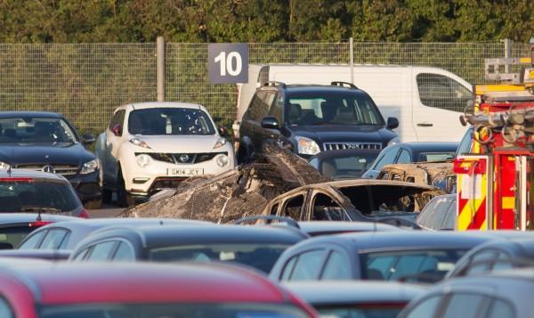 英國昨日驚傳一架小型噴射機不幸墜毀,機上4位人員全數罹難。外媒證實,機上的民眾是賓拉登的家屬。(美聯社)