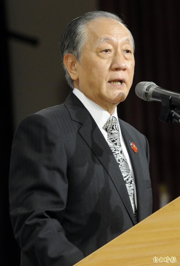 新黨主席郁慕明。(資料照,記者陳志曲攝)