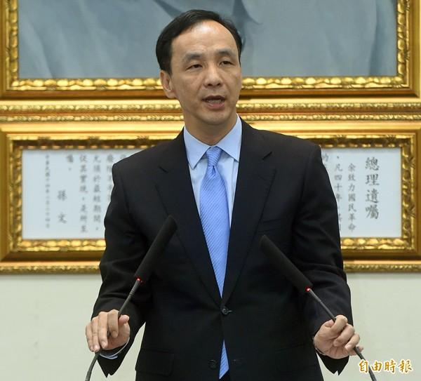 國民黨主席朱立倫。(資料照,記者簡榮豐攝)