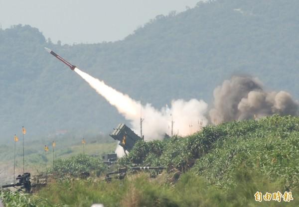 圖為漢光演習中試射愛國者飛彈。(資料照)