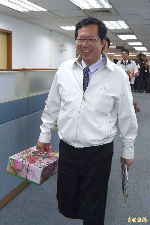對於台南市長賴清德被監察院彈劾一事,桃園市長鄭文燦今天發表聲明力挺賴清德。(資料照,記者劉信德攝)