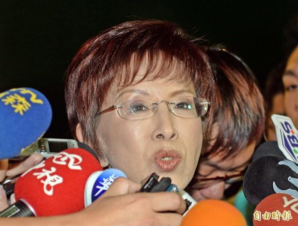 國民黨總統參選人洪秀柱。(資料照,記者林正堃攝)