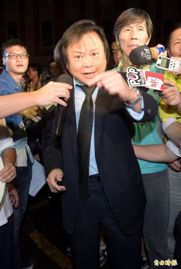 民進黨台北市議員王世堅認為,柯P已經半推半就妥協九二共識。(資料照,記者王敏為攝)