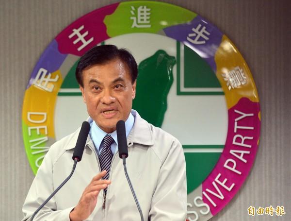 蘇嘉全表示,因為淡水區與新竹市兩選區比較有衝突,才有此協商。他並強調這是黨對黨的協商。(資料照,記者王藝菘攝)