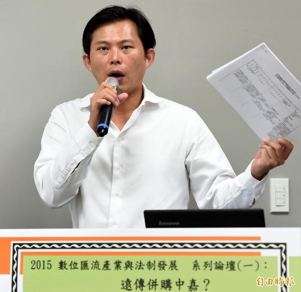 時代立量立委參選人黃國昌表示,目前目標是政黨票可以超過10%。(資料照,記者朱沛雄攝)