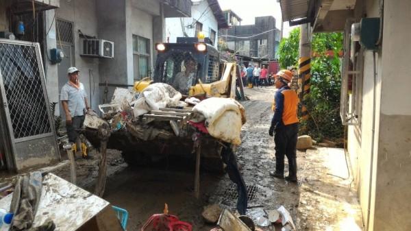 溪洲部落在蘇迪勒颱風中受創嚴重。(王明籐提供)