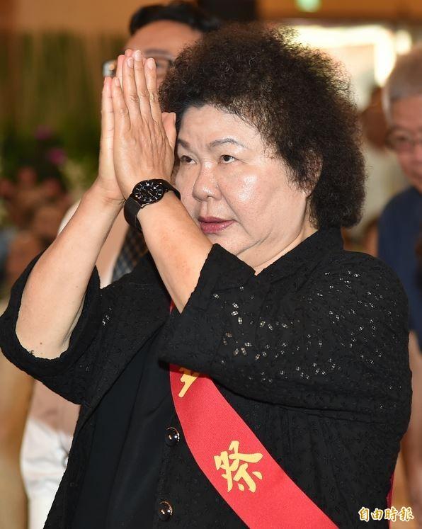 中國天津昨天發生嚴重大爆炸,陳菊表示,感同身受、不捨。(記者張忠義攝)