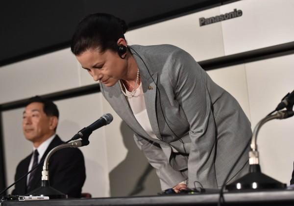 受食安風暴衝擊,日本麥當勞社長卡莎諾娃飽受批評(法新社)