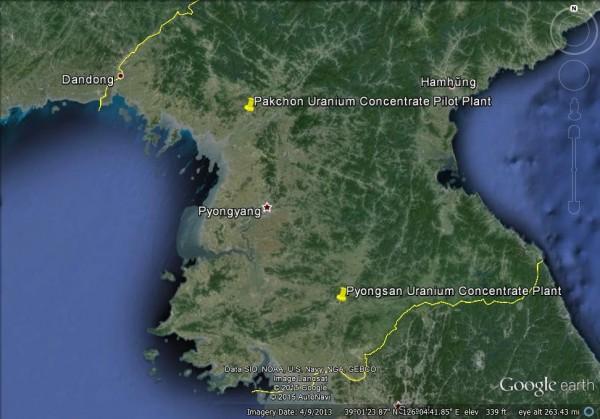 平山位於北韓南部。(圖擷自「38north」網站)