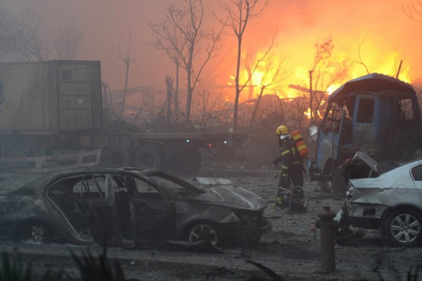 天津爆炸造成嚴重傷亡。(法新社)