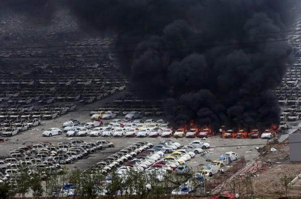 天津爆炸至今已造成85死、721傷。(路透)