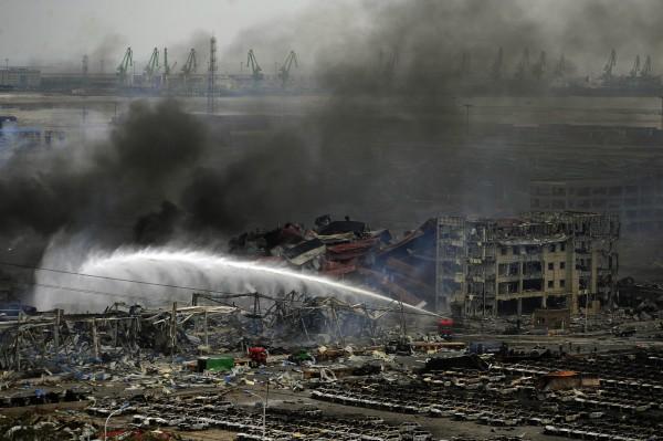 天津大爆炸造成重大傷亡。(法新社)