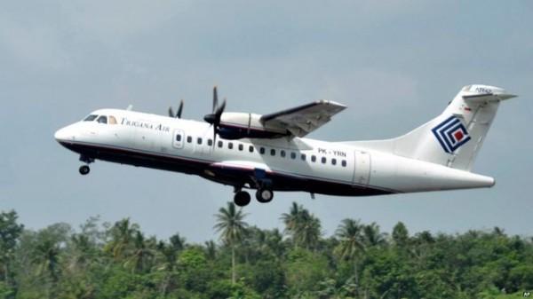 印尼一架ATR 42-300小客機昨天驚傳失聯,圖為失聯同型機。(BBC)
