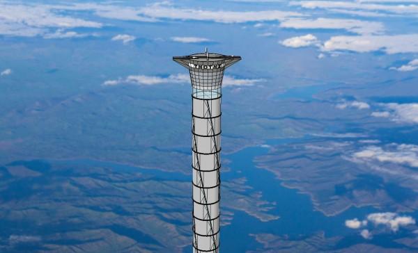 加拿大一家科技公司設計了一款直聳入雲的高塔,使太空人不用大費周章搭太空梭,只要走進太空電梯按個按鈕,輕輕鬆鬆就抵達太空。目前該公司已經取得專利,離夢想更近一步。(法新社)