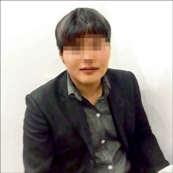 涉嫌假冒「Uber」司機的劉姓男子。(記者黃捷翻攝)