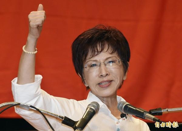 國民黨總統參選人洪秀柱今說,我沒當選台灣就會敗給日本。網友表示,不知從何酸起。(記者陳志曲攝)