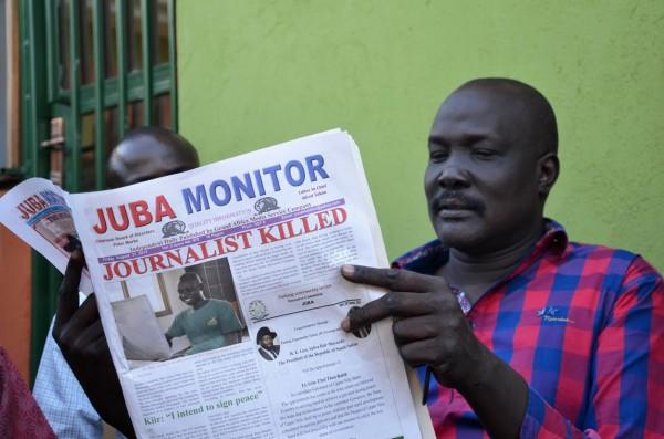 南蘇丹《新國家報》的記者莫怡,在從首都朱巴的報社辦公室下班回家途中,遭到槍殺,是今年以來遭到槍殺的第7名記者。(法新社)