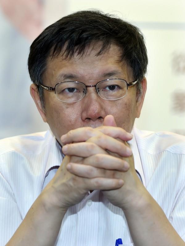 台北市長柯文哲日前自爆陳佩琪氣到不願意與自己出門,今日解釋「只是不參加公開場合」。(資料照,記者廖振輝攝)