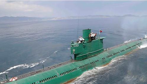 今日南韓軍方一名相關人士指出,北韓部份離港潛艦正返回所屬基地。圖為北韓潛艦。(圖擷取自韓聯社)