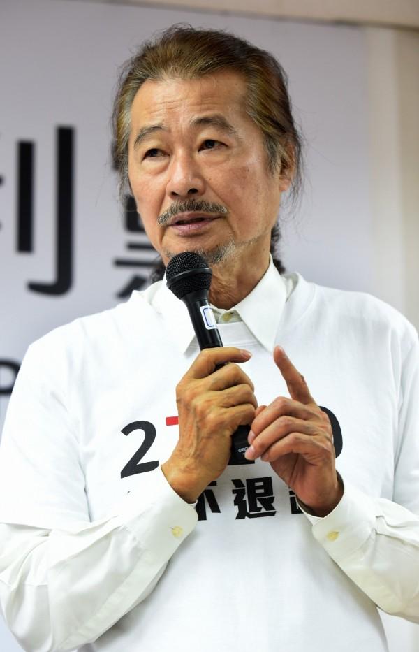 前民進黨主席暨獨立總統參選人施明德表示,日本、中國才是台灣的一部份。(資料照,記者簡榮豐攝)