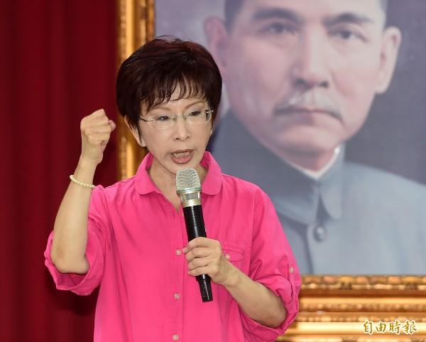 國民黨總統參選人洪秀柱今召開記者會時,宣布台北市議員王鴻薇將加入其發言人團隊,並擔任發言人團召集人一職。(資料照,記者廖振輝攝)