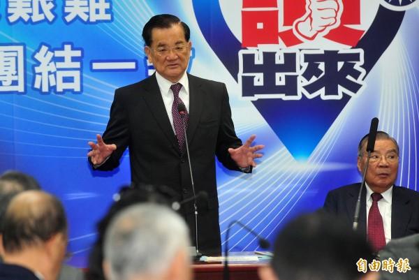 前國民黨主席連戰不顧馬政府反對,執意出席中國93大閱兵。(資料照,記者簡榮豐攝)