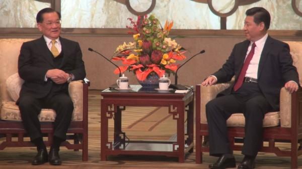 連戰將於9月1日上午9點在北京人民大會堂,與中共總書記習近平舉行第三度的「連習會」。(資料照,圖取自中央社)
