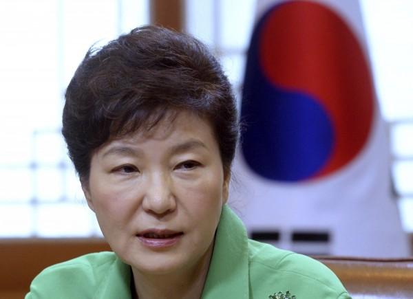 南韓蓋洛普民調,總統朴槿惠的支持度達到49%,創她就任以來的最高點。(資料照,美聯社)