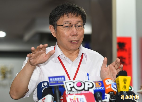 柯文哲告訴黃國昌,若在故鄉新竹,他會支持民進黨立院黨團總召集人柯建銘。(資料照,記者張嘉明攝)