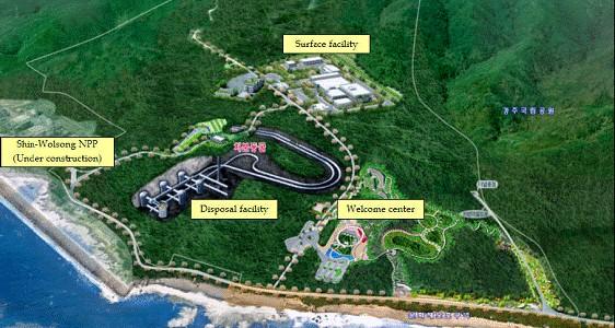 南韓第一座核廢料處置場「慶州中低放射性核廢料處置場」28日完工,是南韓時隔38年終於建成的核廢料最終處置設施。(圖取自行政院原子能委員會網站)