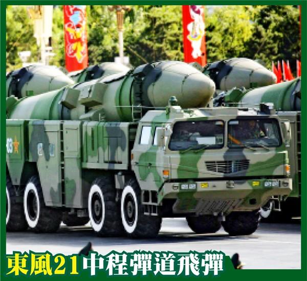 此次閱兵可能展示有航母殺手之稱的東風21丁型。圖為2009年北京閱兵展示的東風21丙型。(路透資料照)
