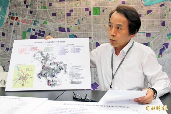 副市長林欽榮表示,四十五處兩萬戶的公宅是柯市府任內興建,若是加上之前既存的將會有兩萬六千多戶。(記者鍾泓良攝)