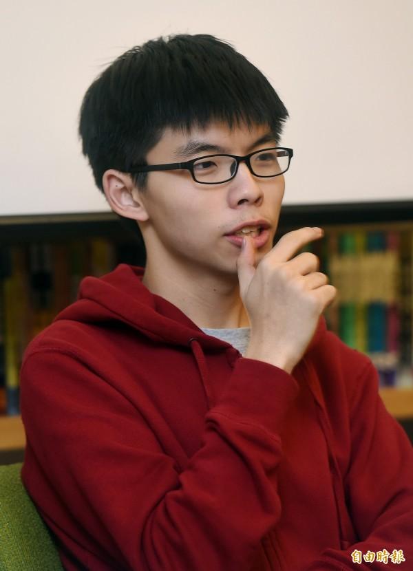 香港學民思潮召集人黃之鋒。(資料照,記者廖振輝攝)
