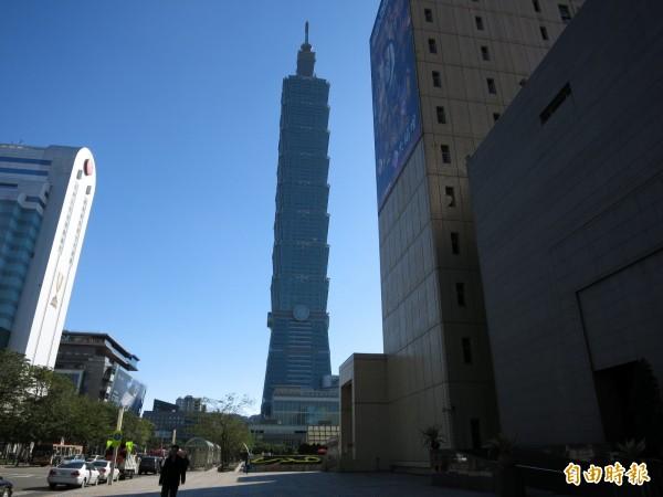 英勞合社對全球共301座城市進行災害損失估算,台灣台北高居首位。圖為台北101。(資料照,記者陳慰慈攝)