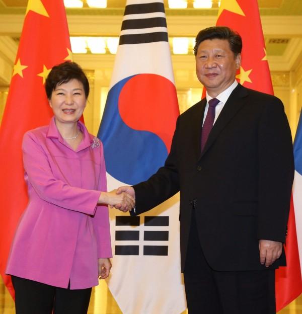 朴槿惠結束訪中行程後表示,為了實行兩韓和平統一,南韓將和中國共同探討如何實現統一願景。(韓聯社)