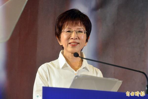 國民黨總統參選人洪秀柱閉關3日,於今天早上發表出關記者會。(記者王藝菘攝)