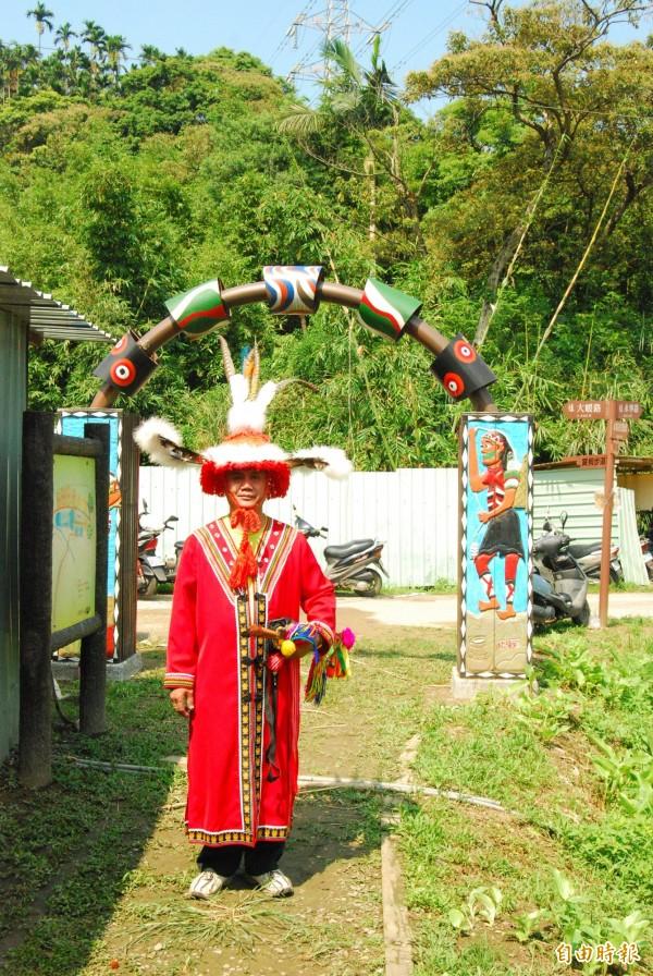 土城原住民總頭目胡錦照將於12日率領族人到祖靈屋進行傳統的祝禱祈福儀式。(記者張安蕎攝)