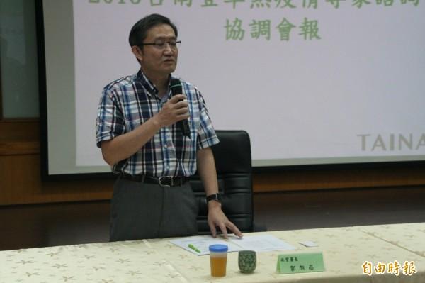 疾管署長郭旭崧表示,登革熱疫情9月底若無好轉,中央將接手防疫。(記者黃文鍠攝)