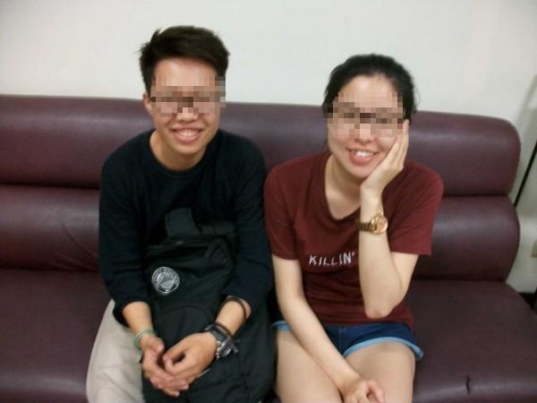 2名大學女生約想尋死的林姓女子到芋圓店吃冰,挽救她一命。(記者林良昇翻攝)