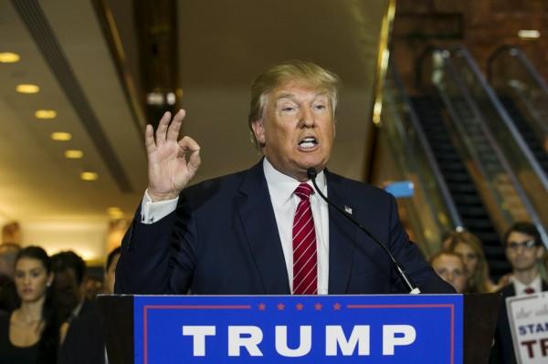 以批評非法移民著稱的川普昨日表示,基於「難以置信的人道問題」,美國應收容一些敘利亞難民。(路透)