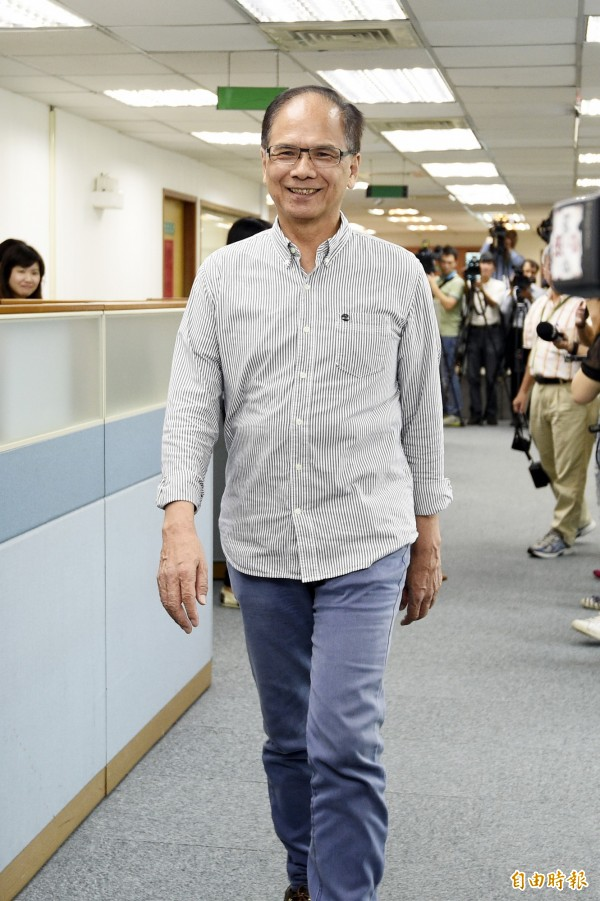 游錫堃搞笑的向國民黨說,「謝謝你們一直重提阿扁和我的政績!」(資料照,記者叢昌瑾攝)