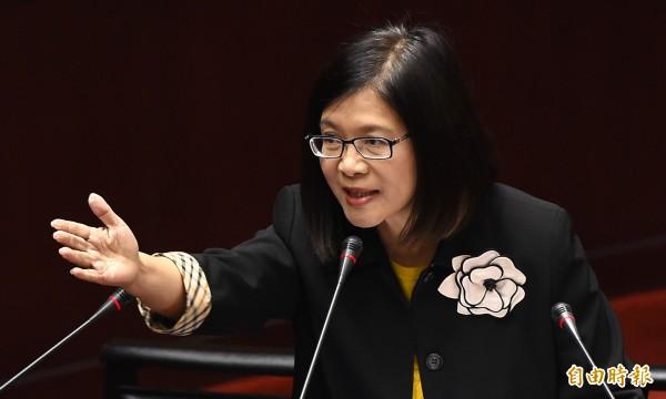 民進黨立委管碧玲今天下午表示:「如果老柯說的是真的,那王金平算是被我害的!」(資料照,記者劉信德攝)