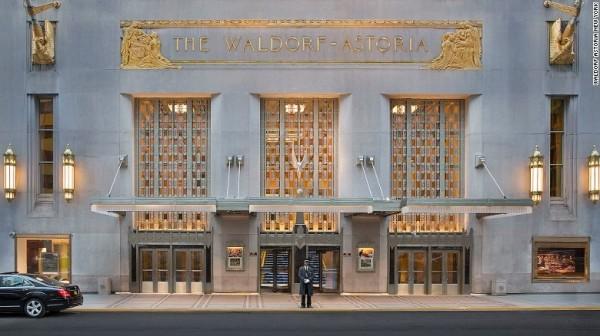 美國歷屆總統和其代表團以往入住的華爾道夫飯店(Waldorf-Astoria)去年被中資買下,歐巴馬因安全考量今年決定不入住了。(CNN)